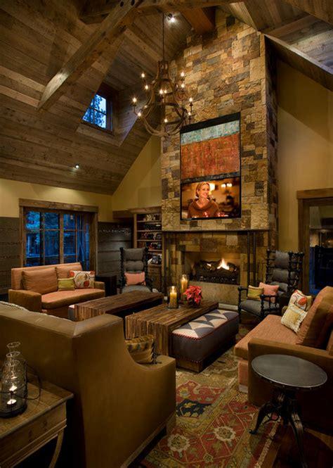 mountain cabin rustic living room phoenix  imi