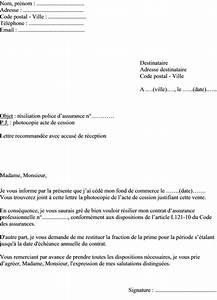 Modele Lettre Resiliation Assurance Moto Pour Vente : modele lettre resiliation contrat vente document online ~ Gottalentnigeria.com Avis de Voitures