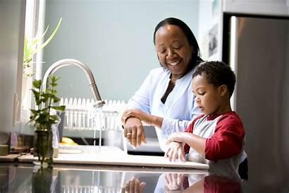 Washing Hands Mother Boy Hand Health Children