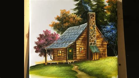 The Cottage Painting by Painting The Basic House In Acrylics Lesson 2