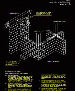Autocad 2017 For The Interior Designer Wall Pressed Clay Hollow Block Dwg Detail For Autocad