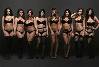 Lucy Pinder Friends Heels Lingerie Stockings Models