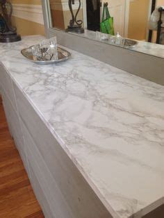 DIY   Faux Marble Countertop using Design Your Walls