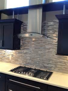 Glass Tile Kitchen Backsplash Stainless Steel