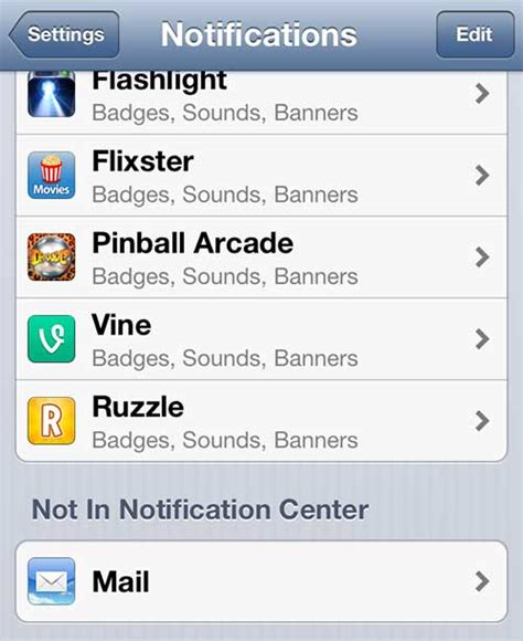 email notifications iphone individual notification settings for iphone 5 mail