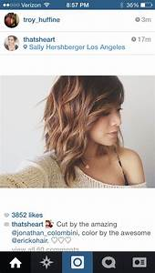 Love this cut...a little angled, some highlights. | cortes ...