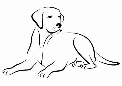 Coloring Pages Printable Labrador Dogs Puppies Sitting