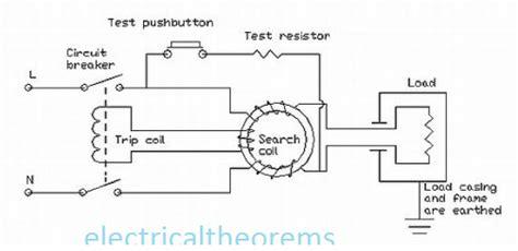 Earth Leakage Circuit Breaker Wiring Diagram by Residual Current Circuit Breaker Electrical4u