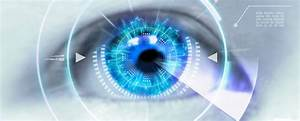Close Up Eyes Of Technologies In The Futuristic    Contact Lens