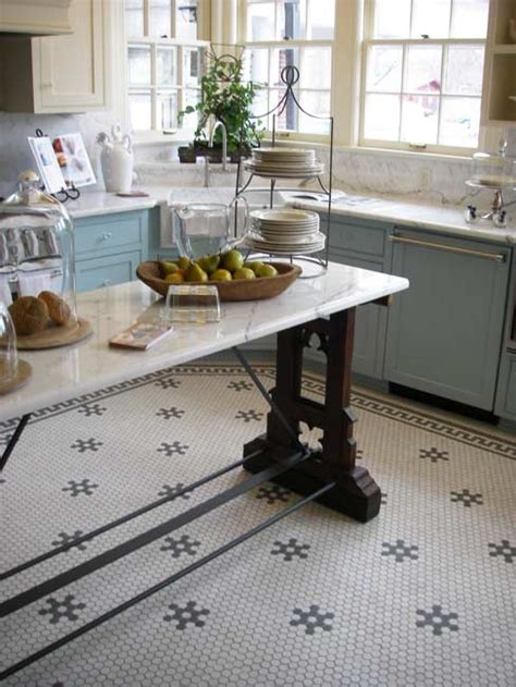 black and white floor tiles kitchen aesthetic oiseau hexagon tile kitchen floor 9270