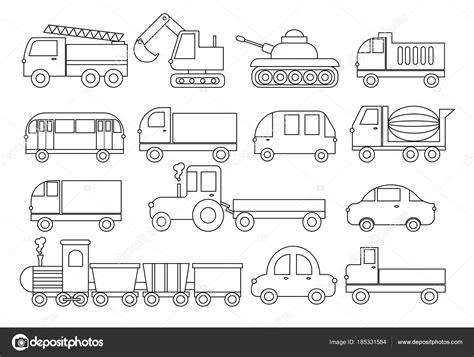 disegni da colorare camion dei pompieri libro da colorare set di trasporto auto autobus treno