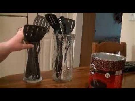 kitchen utensil storage ideas kitchen utensil holder idea in a minute 6371