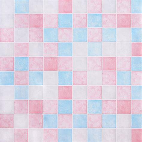 pink blue tile contact paper peel stick wallpaper
