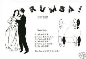 Postcard Rumba Dance Steps Diagram