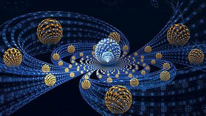 3d Wallpapers Abstract Background Fractal Balls Flying