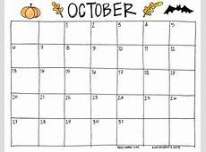 October Printable Calendar onlyagame