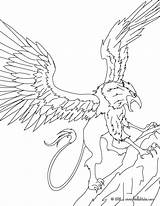 Griffin Coloring Creature Majestic Pages Mythology Greek Print Powerful Creatures Monsters Hellokids sketch template