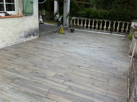 terrasse imitation carrelage bois carrelage peinture