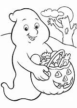 Ghost Coloring Pages Halloween Printable Print sketch template