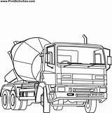 Cement Coloring Mixer Truck Colouring Printable Crane Sketch Coloringpages Clipart Template Popular Coloringhome Library Transportation sketch template