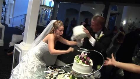 bloody cake smash brawl  bride  groom youtube