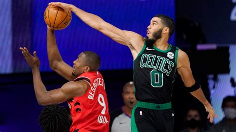 Celtics roll in Game 5, take 3-2 series lead on Raptors ...
