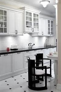 Cuisine Blanc Et Noir : carrelage noir et blanc tr s chic des id es originales en tre inspir ~ Voncanada.com Idées de Décoration