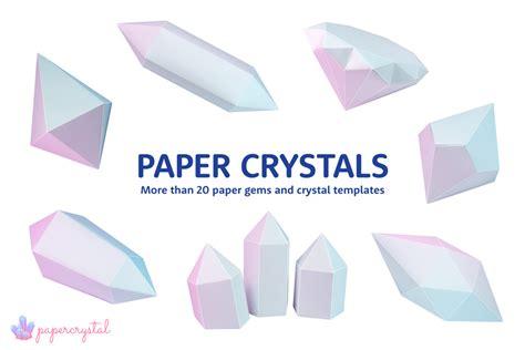 printable paper gems crystal templates paper kawaii