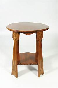 Art, Nouveau, Rimu, Side, Table, C, 1895, This, Superb, Side, Table, U2026, -, Tables, -, Side, And, Serving