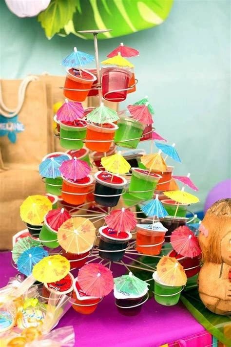 Outdoor Umbrella Stand Table by 40 Affordable And Creative Hawaiian Party Decoration Ideas