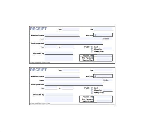 cash receipt template printable