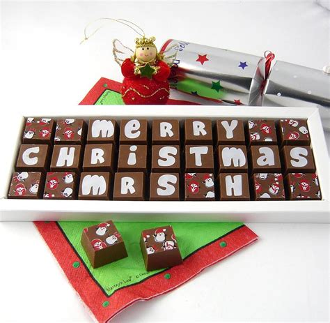 personalised christmas chocolates by chocolate by cocoapod chocolate notonthehighstreet com
