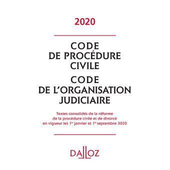 code de procedure civile code de lorganisation