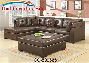 darie leather sectional sofa with left side chaise by With darie leather sectional sofa
