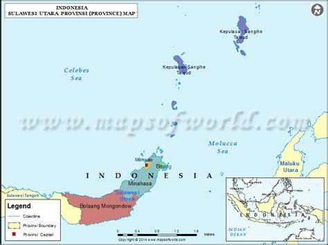 sulawesi utara map map of sulawesi utara province indonesia