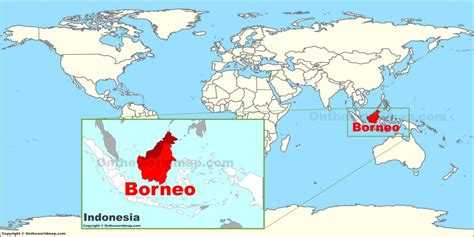 borneo   world map