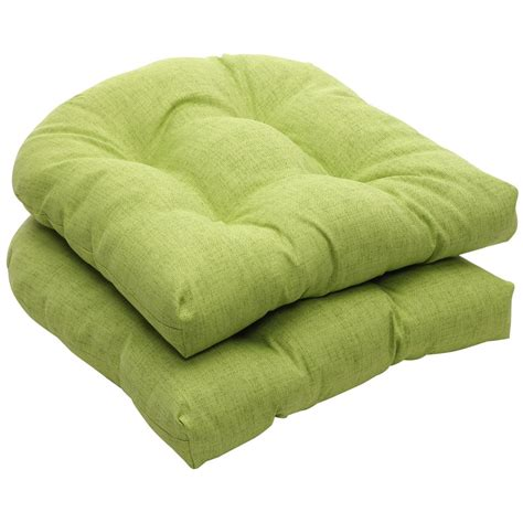 pillow indoor outdoor green textured solid wicker