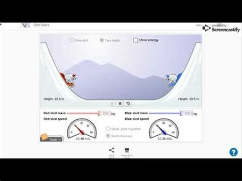 With the sled wars gizmo™, you will explore the factors that affect the energy of a sled. Sled Wars Gizmo : ExploreLearning - YouTube