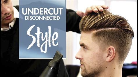 disconnected undercut mens hair styling inspiratio