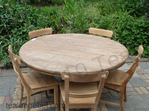 küchenzeile 140 cm teak tisch rund 216 140 cm altes holz teakm 246 bel