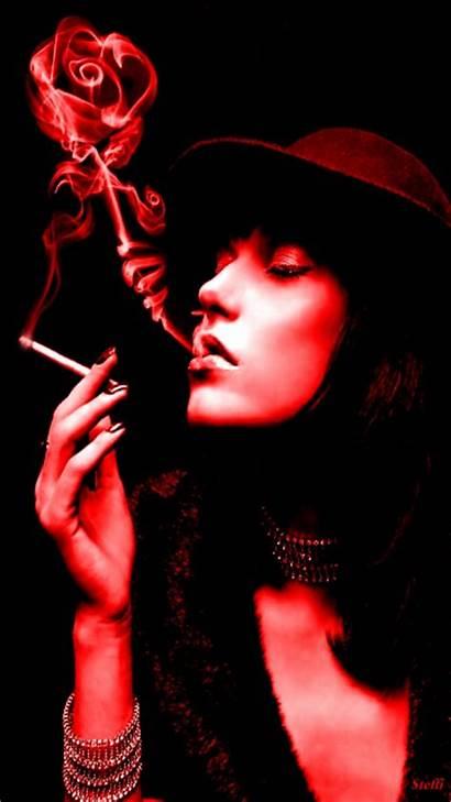 Smoke Rose Woman Smocking Animated Tweet