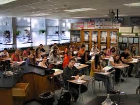 High School Classroom Students Working