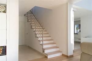 Escalier De Maison Interieur : escalier droit design int rieur contemporain escalier ~ Zukunftsfamilie.com Idées de Décoration