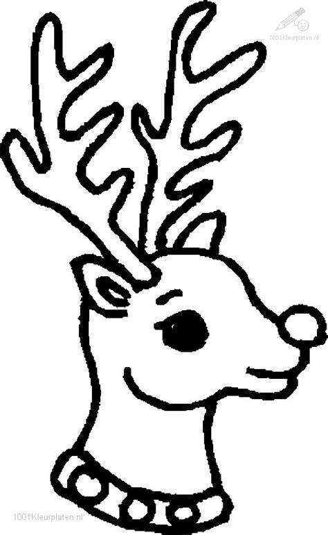 Kleurplaat Rendier Rudolf by Kleurplaat Rudolf