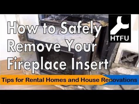 fireplace insert   carefully remove  heavy