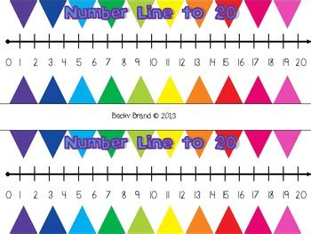 colorful student number lines   grade friendzee tpt