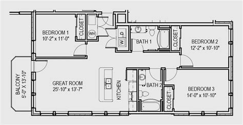 3 One-Bedroom Apartments With Floor Plans : 3 Bedroom Apartments
