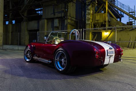 photographing  shelby cobra replica cars davd