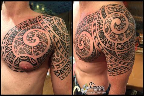 Tatouage Tribale Polynésien Bras Epaule Pec Tatouage
