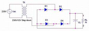 Full Wave Rectifier Circuit Diagram  Center Tapped  U0026 Bridge Rectifier